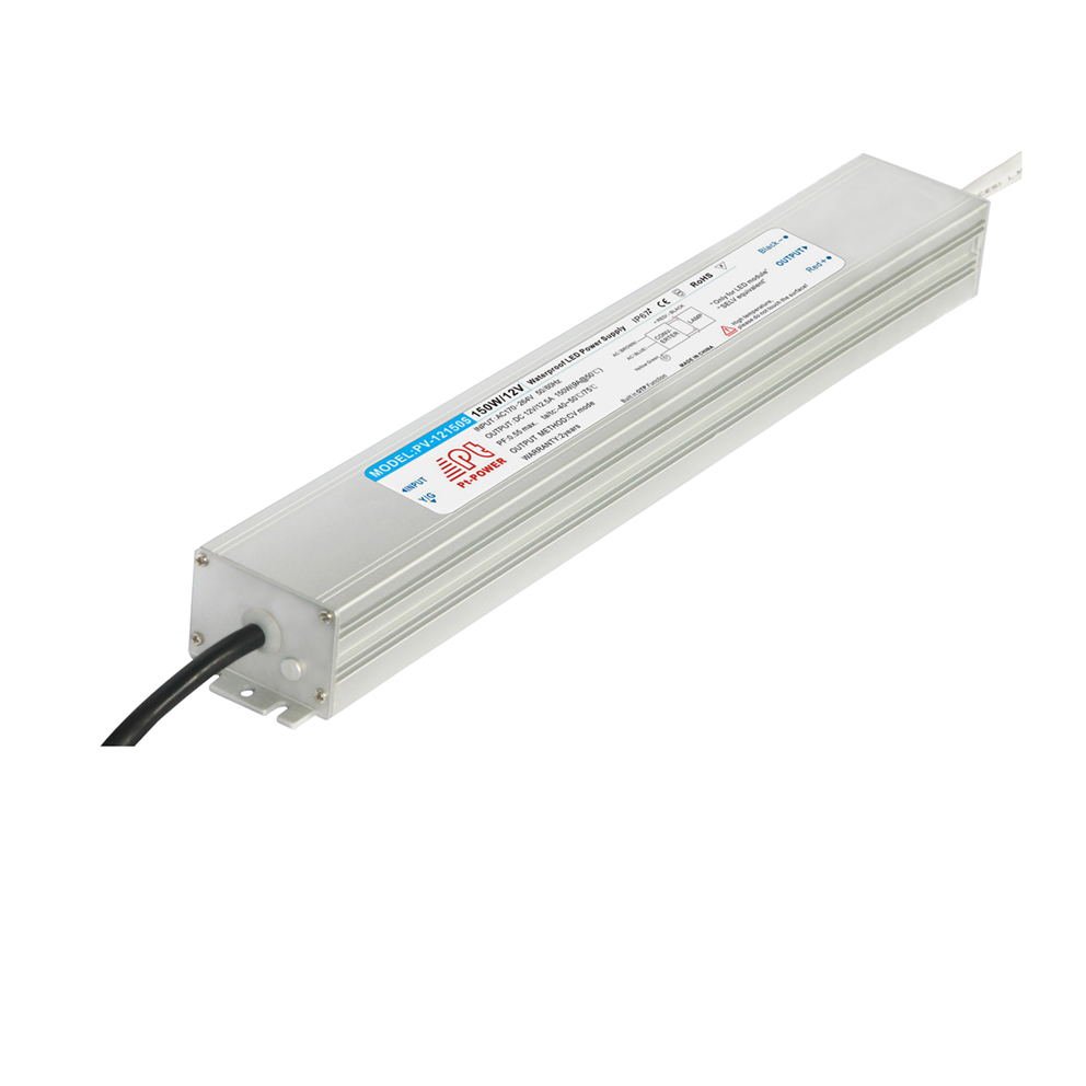 US Stock, 150W Ultrathin Outdoor Waterproof Transformer  Power  Supply Adapter LED Light Driver AC-DC 12V 12.5A 100W