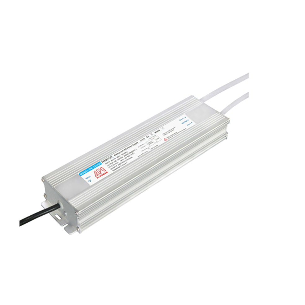 US Stock, 300W Ultrathin Outdoor Waterproof Transformer Power Supply Adapter LED Light Driver AC-DC 12V 12.5A 100W