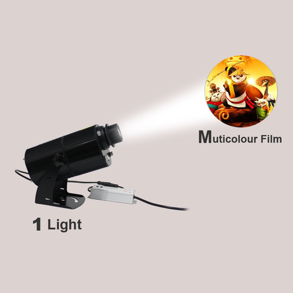 US Stock, 80W Outdoor LED Rotating Gobo Advertising Logo Projector Light (with Custom Multicolor Rotating Glass Gobos)