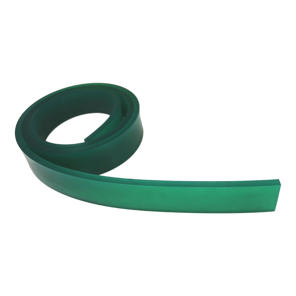 "US Stock, Screen Printing Squeegee Single 50mm x 9mm x 6FT(72"") / Roll 70 Duro (Green Color)"