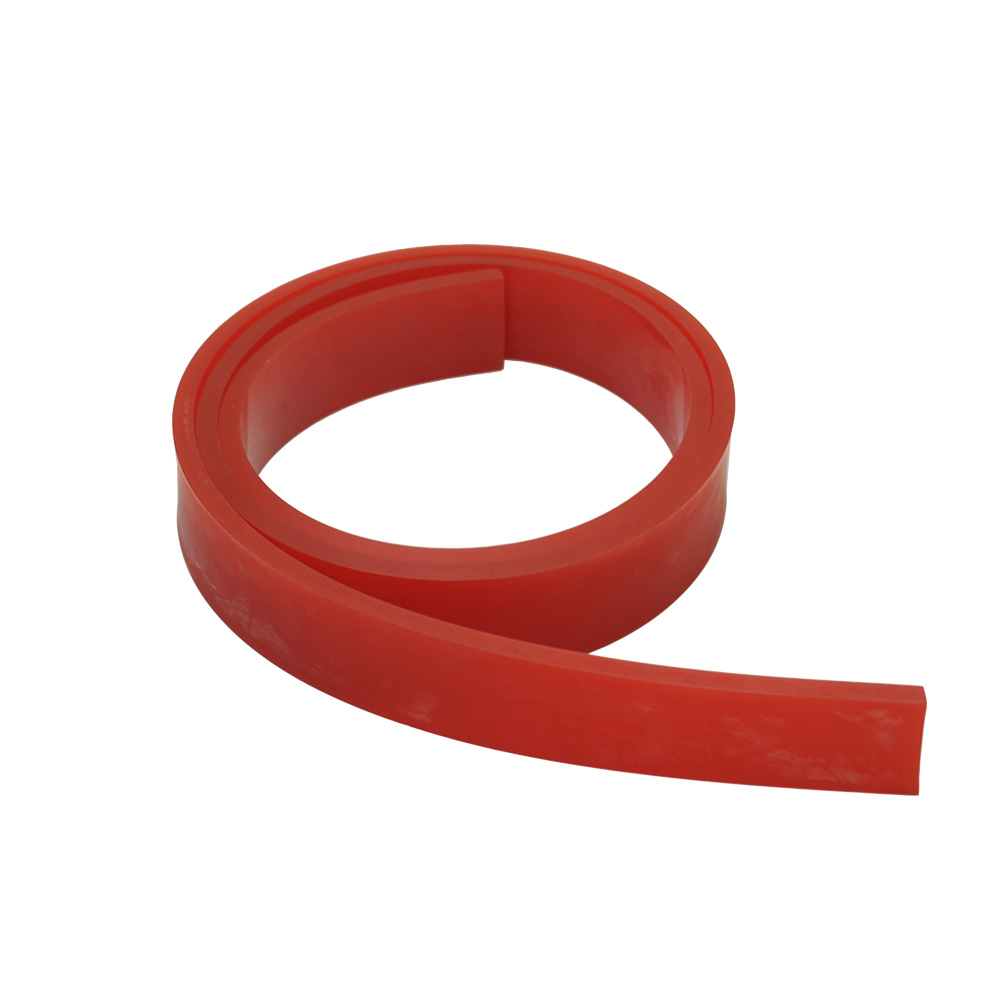 "US Stock, 6FT - 72"" Silk Screen Printing Squeegee Blade - 60 DURO - Polyurethane Rubber (Red Color)"