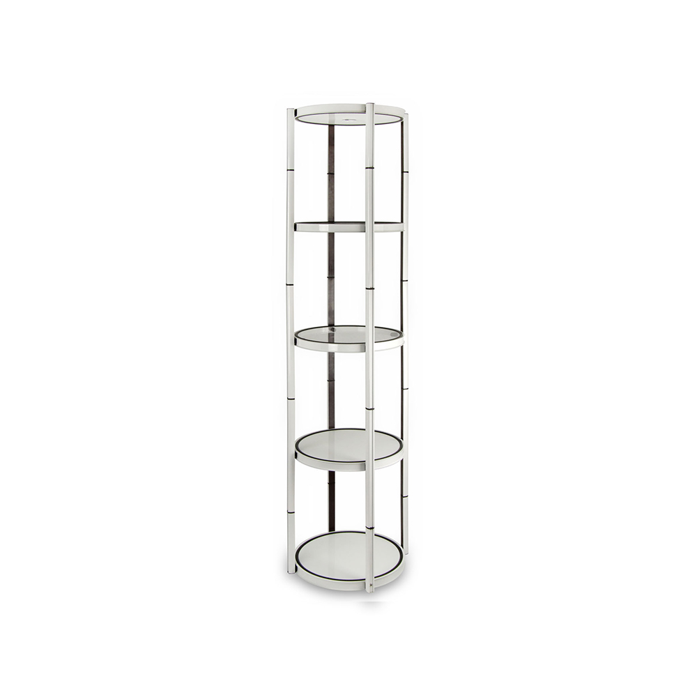 US Stock, 5-Layer Circle Quick Installation Portable Aluminum Spiral Tower Display Case