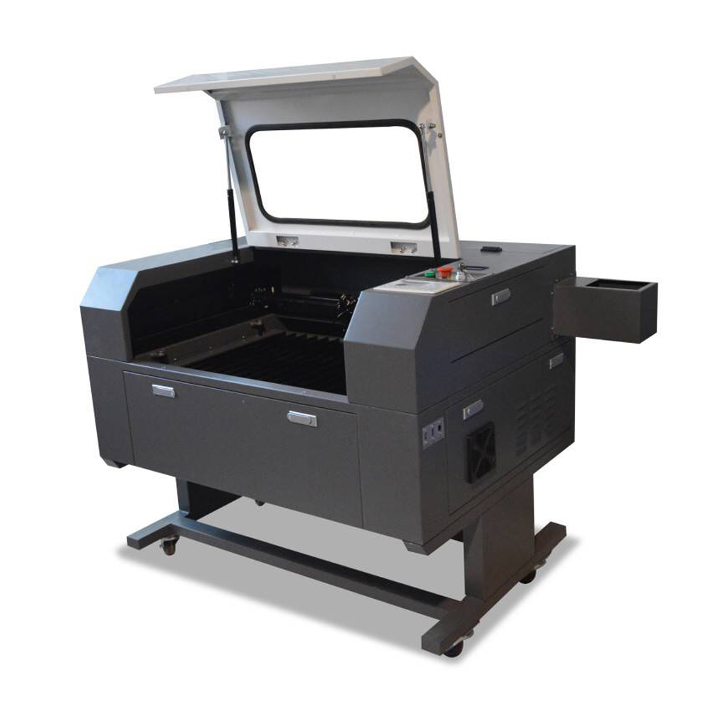"US Stock, 23"" x 35"" (600mm x 900mm) 100W CO2 Laser Cutter, with Double Side Open Door, with USB Port and Electric Lifting Worktable"