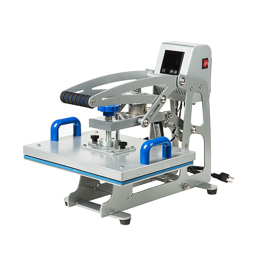 "220V Auto-open Flat Heat Press Machine 15"" x 15"" (380 x 380mm) for T-shirts with Replaceable Platen"