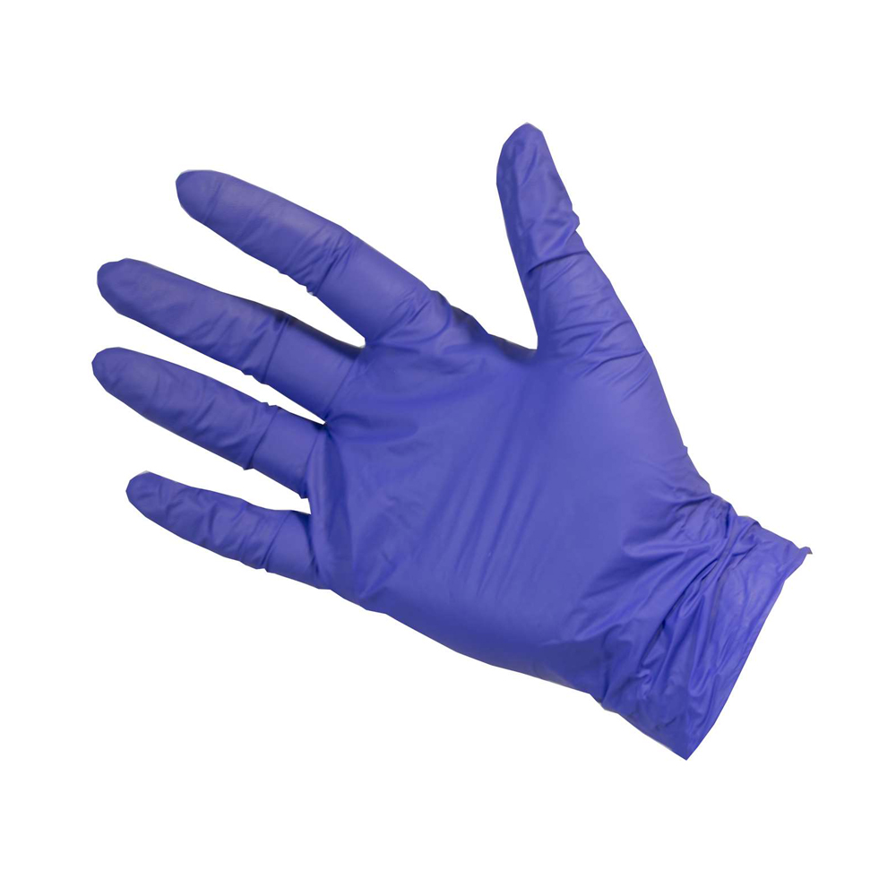 Medical Exam Examination Sanitary Blue Gloves Nitrile Latex   Gloves 100Pcs/pack