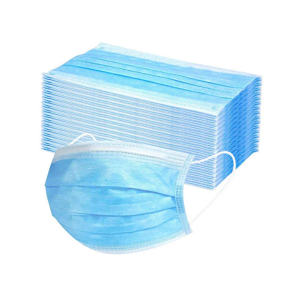 50pcs 3 Ply Ear Loop Disposable Face Mask Anti Dust Masks