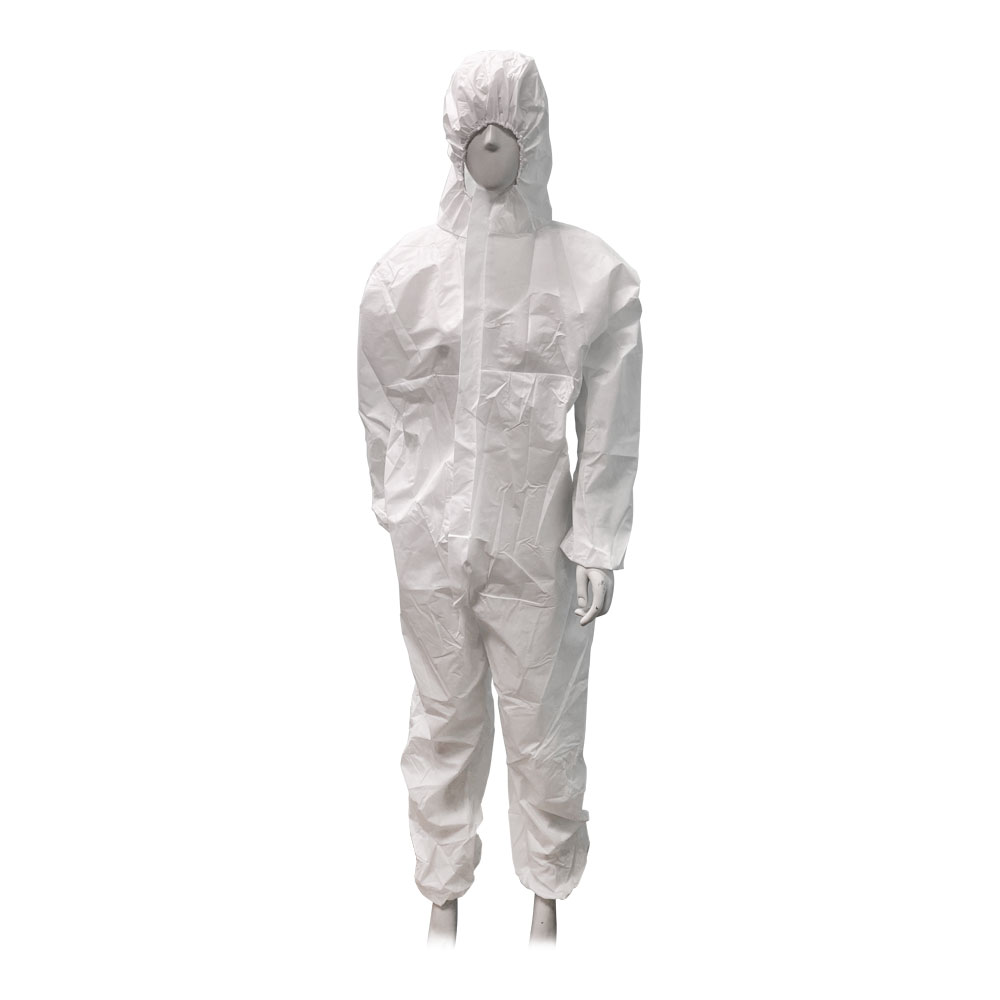 White Disposable Coveralls Painters Protective Overall Boiler Suit Hood Lab Coat Virus Protective Overall