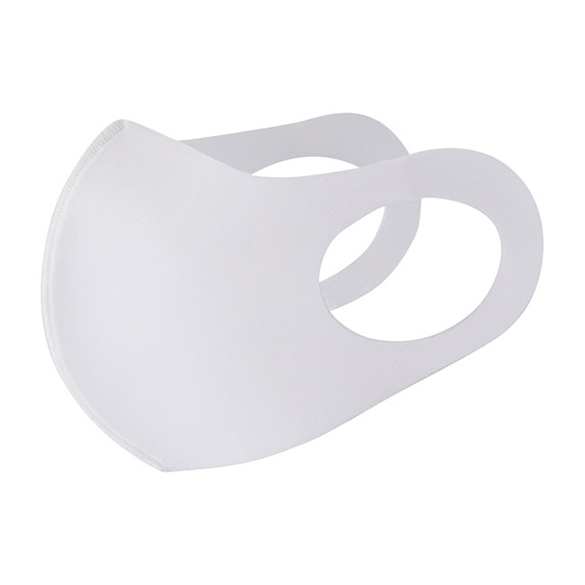 Sublimation Blank White Face Mask 3D