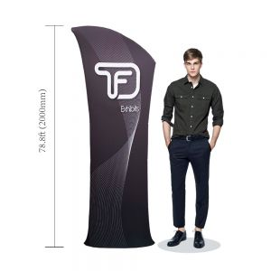 Allure Fabric Tension Banner Stands-Oblique Angle