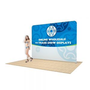 10ft Straight Back Wall Display with Custom Fabric Graphic (Graphic Included/Double Sided)