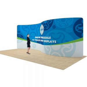 20ft Serpentine Back Wall Display with Custom Fabric Graphic (Graphic Only/Single Sided)