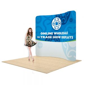 7.5ft Curved Back Wall Display Frame Only