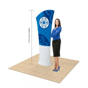 Allure Fabric Tension Banner Stands-Oblique Angle(Graphic Only/Double Sided)
