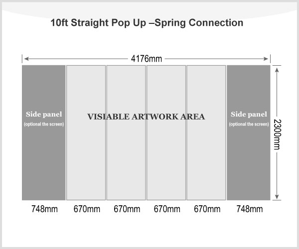 10ft Straight Pop Up Display(Graphic included)-Spring Connection
