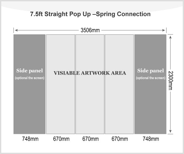 7.5ft Straight Pop Up Display(Graphic included)-Spring Connection