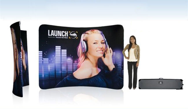 10ft Curved Fabric Display Wall (Graphics Included)