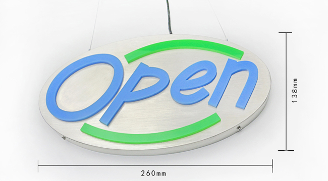 Fashion Open Display LED Sign, Pub Bar Cafe Restaurant Decor