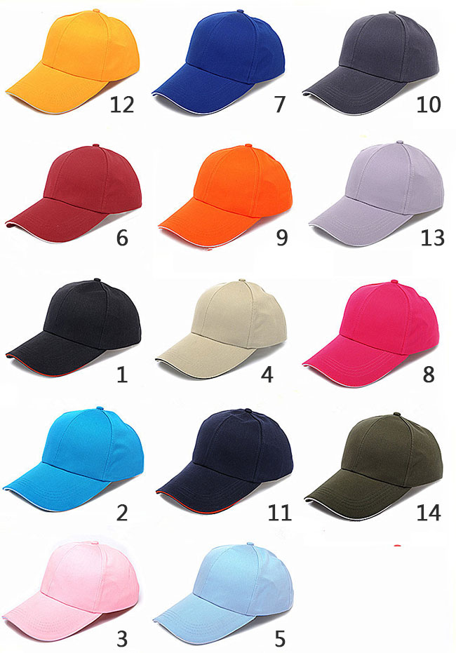 Custom Visor Caps Printed or Embroidered with Your Logo, 14 Color