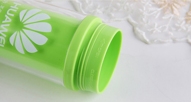 Plastic Travel Mugs with Custom Logo, 6 Color - 1 Color Imprint